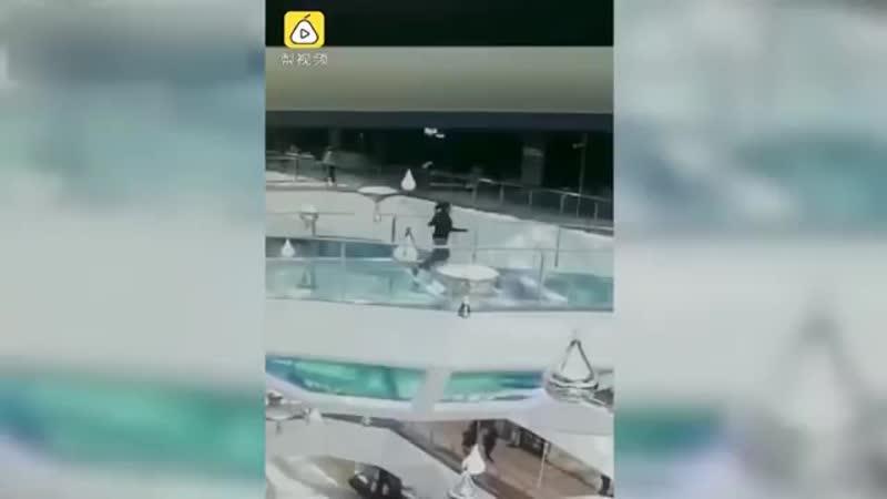 Девушка упала в Аквариум к голодным акулам