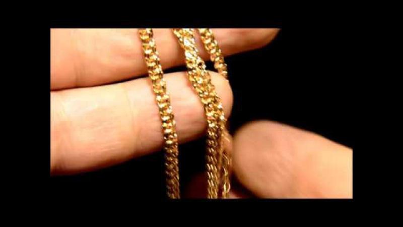 Визуальный эффект от алмазной грани на цепях Бисмарк