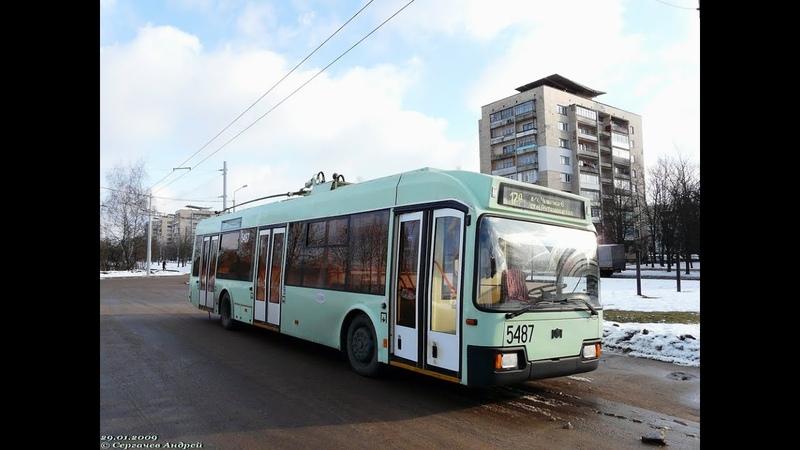 Поездка на троллейбусе БКМ-321,борт.№ 5487