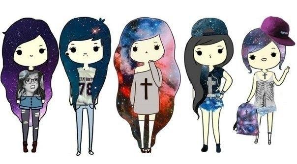 Нарисованные swag girls