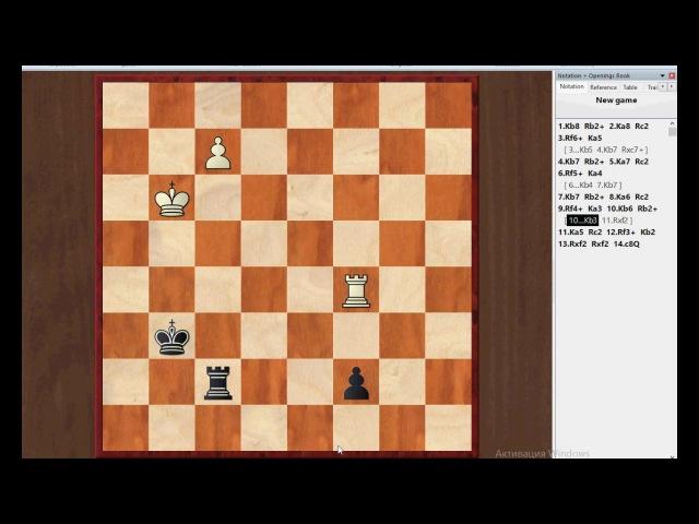Шахматы:ладейный эндшпиль,этюд Ласкера