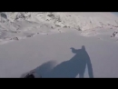 Чудом выжил попав в лавину СНОУБОРД SNOWBOARD