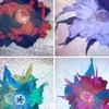 Авторские украшения из кожи,цветы,броши,вазы