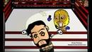 Chibi Wrestlers Shaving Punk to the Bone