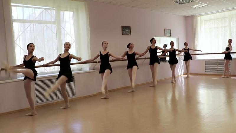 Урок классического танца Grand batteman. Педагог-хореограф О.Алферова » Freewka.com - Смотреть онлайн в хорощем качестве