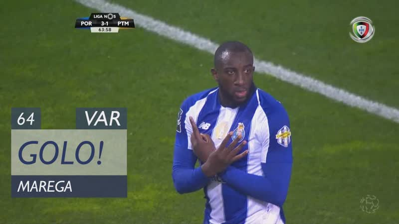 Гол Мареги (64 минута, Порту – Портимоненсе 4:1)