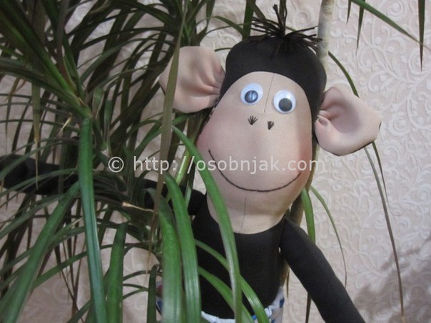 Мягкая игрушка обезьяна из ткани своими руками. Шьем символ 2016 года… (9 фото) - картинка