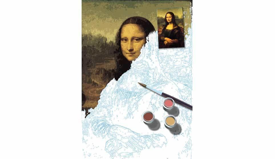 Хорошая идея для подарка Раскраска по номерам с репродукциями картин