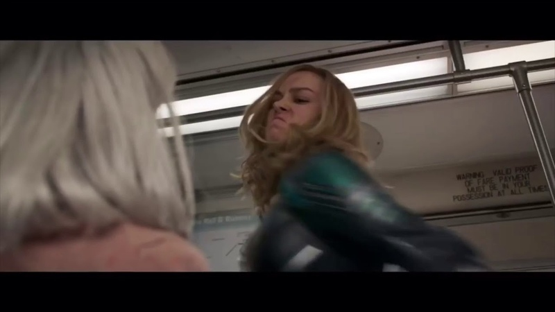Captain Marvel Punches Old Lady In The Face