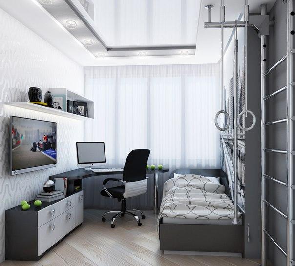 Дизайн комнаты 9 кв.м для подростка фото