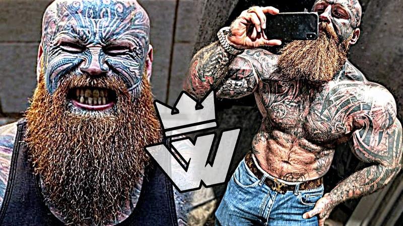 Tattooed MONSTER of Bodybuilding!!