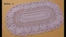Vídeo aulas crochê Tapete Pinhus oval DESTRO 1 5
