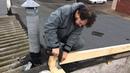 Делаем каркас теплой крыши в гараже. Строим гараж 1. Make a warm roof frame in the garage