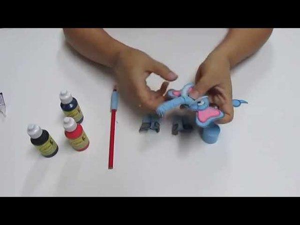 DIY Lapiz Pluma Elefantito Filigrana en Foami, Goma Eva, Microporoso, Easy Crafts