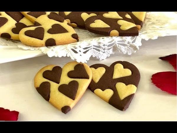 Biscotti Cuore Bicolore di San Valentino, Semplici ma di Grande Effetto!