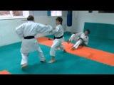 DrobyshevskyKarateSystem:HEIAN NIDAN-Bunkai Kumite-4-Part 1-Kuro Obi First Fight
