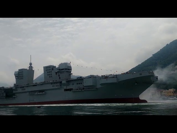 Launch of LHD 'Trieste' for the Italian Navy by Fincantieri