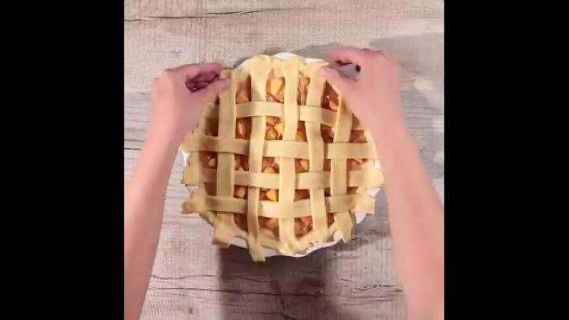 Персиковый пирог с рикоттой