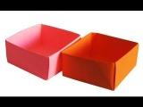 Как сделать коробочку оригами из бумаги - лайфхак