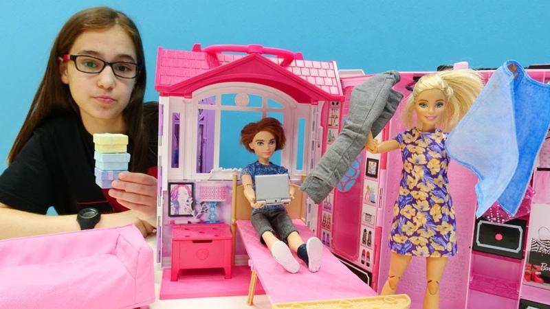 Ken Barbie için alışveriş yapıyor! Kız oyunu