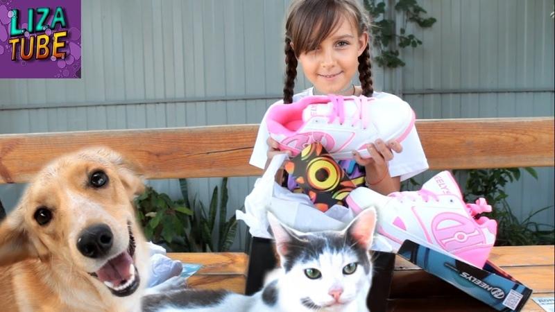 Крутой подарок для Лизы Роликовые кроссовки Heelys Распаковка с питомцами LizaTube