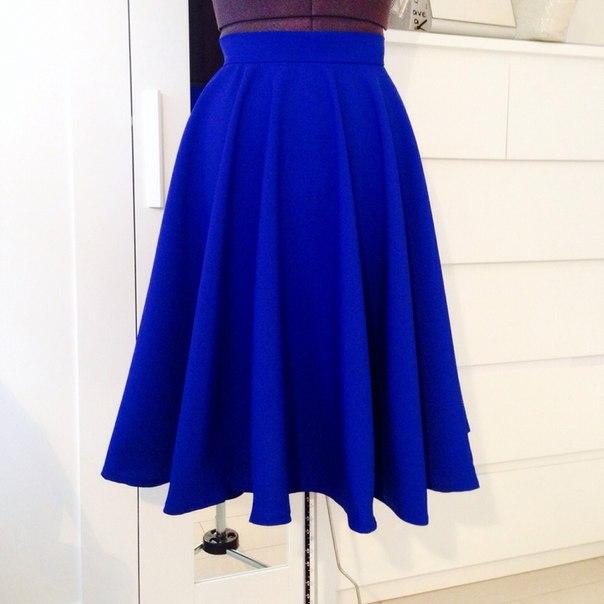 Синяя юбка солнышком