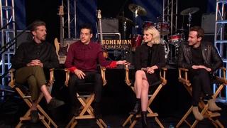 BOHEMIAN RHAPSODY Interviews: Rami Malek, Gwilym Lee, Ben Hardy, Joseph Mazzello, Lucy Boynton