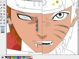 Как рисовать аниме Наруто в Paint