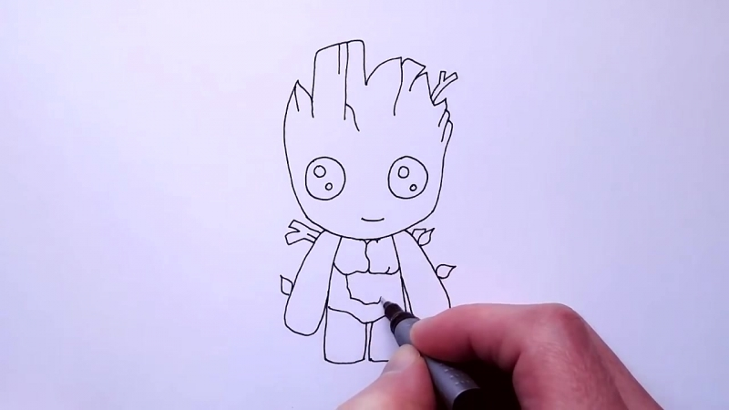 Mirage4You How to Draw Baby Groot Easy Guardians of the Galaxy Step by Step Tutorial