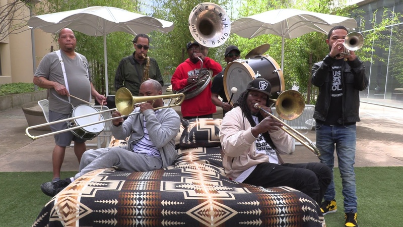Rebirth Brass Band performs in bed 2018