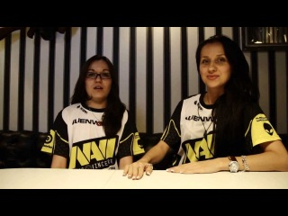 Interview with Na`Vi.Ladies @ Female Dota 2 tournament (with English subtitles)