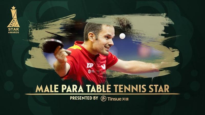 2018 ITTF Star Awards Jordi Morales Male Para Table Tennis Star presented by Tinsue