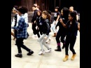 I hung with pop teens this morning. #zendaya teaching sac high dancers her moves from the #replay video #paparazziforaday #eleakisandelder