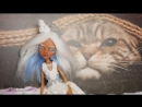 Зимний ООАК на кукле Монстер хай Ooak времена года КУКЛА ЗИМА Monster High