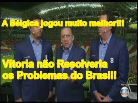 Galvão Bueno Irritado fala após eliminação Brasileira Bélgica 2x1 Brasil Debate da Globo 2018
