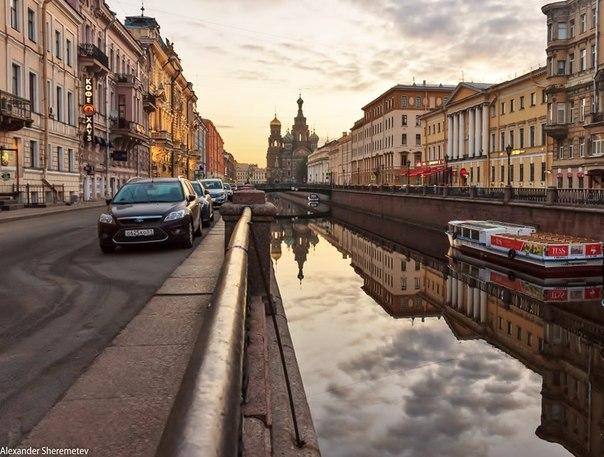 Санкт-Петербург.Рассвет на канале Грибоедова.