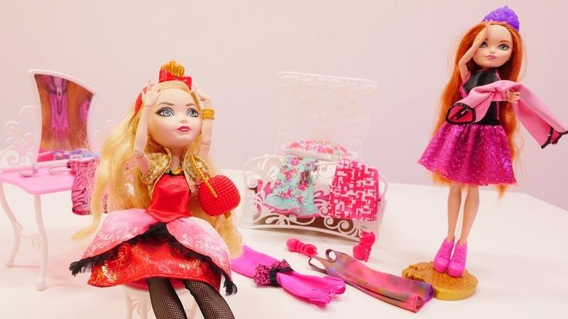 Muñecas de Ever After High. La fiesta. Vídeos para niñas.