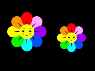 Baby Sensory Rainbow - fun baby video with music - Infant Visual Stimulation