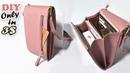 DIY PURSE BAG COMPACT PHONE MONEY HOLDER PU Lather CrossBody Bag in 3$