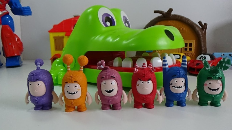 ODDBODS Play Fun Game CROCODILE DENTIST Funny Video for Kids Baby Song