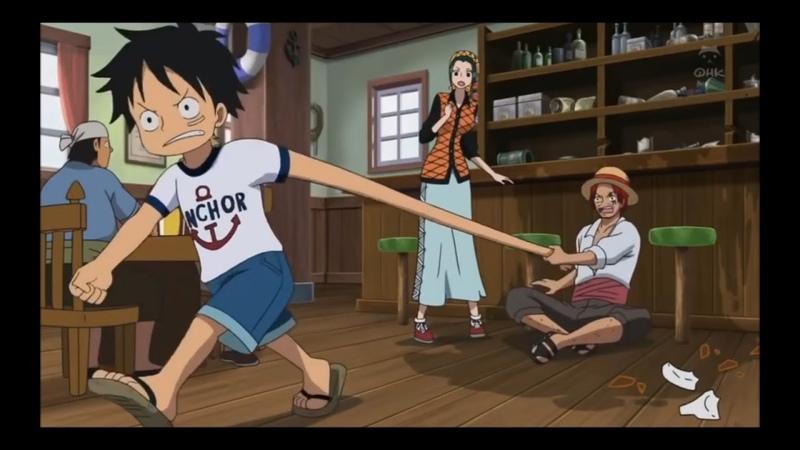 Momento em que o Luffy comeu a Gomu Gomu no Mi