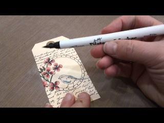 МК раскрашивания с помощью Tim Holtz Distress Marker