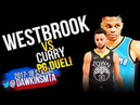 Russell Westbrook vs Stephen Curry PG Duel 2018.2.7 - Steph With 21, Russ With 34-9-9! | FreeDawkins