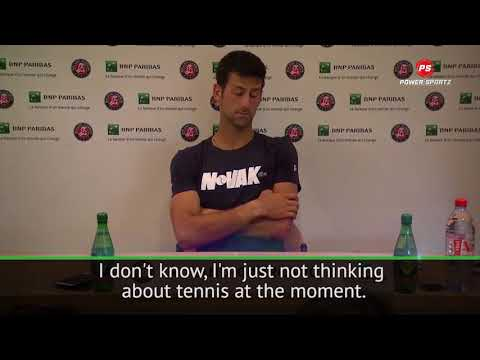 Djokovic Crestfallen after French Open Loss, Bewildered about Wimbledon Appearance