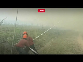 Огненный торнадо обезоружил спасателей