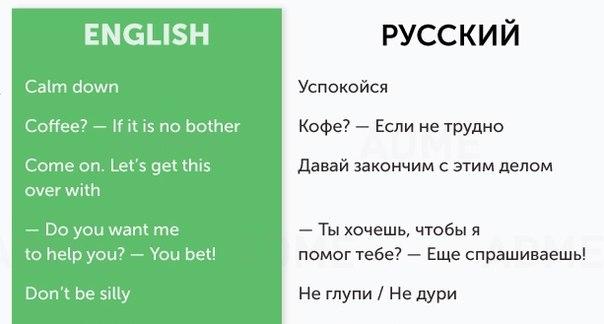 50 разговорных фраз для общения на английском: ↪ Забирайте себе, полезно.