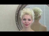 Свадебная прическа на короткие волосы с кудрями