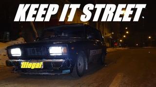 illegal street drift in Nizhny Novgorod