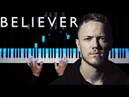Imagine Dragons - Believer Piano tutorial Sheets