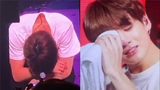 181010 Jungkook Cried because he was frustrated not being able to show at first concert in London